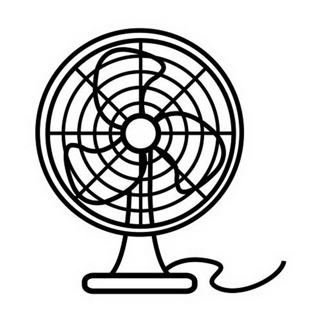 electric fan coloring pages - photo #29