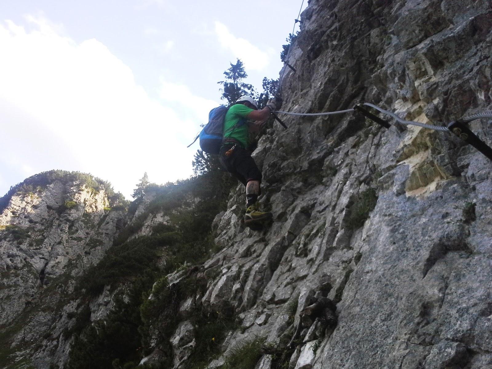 Klettersteig Klamml : Der durscht bringt mi um klamml klettersteig berggemeinschaft