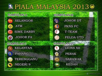 Terkini - Jadual Perlawanan Piala Malaysia 2013