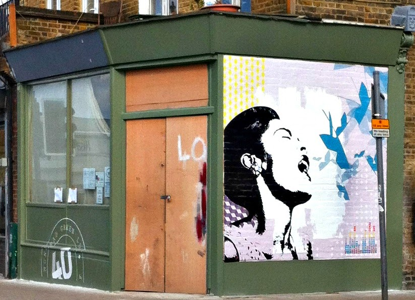 Transpontine billie and bowie murals nunhead and brixton for Billie holiday mural