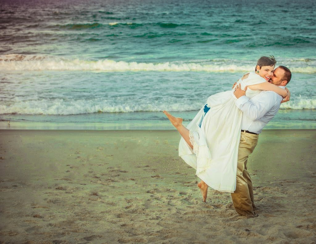 1940s, beach, wedding, vintage,