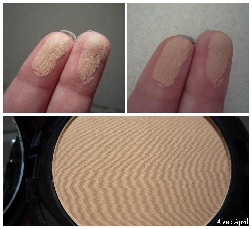 Compact powder 2-in-1 Skin Perfection Lamel Professional, компактная пудра 2-в-1 безупречная кожа, свотчи, оттенок 203
