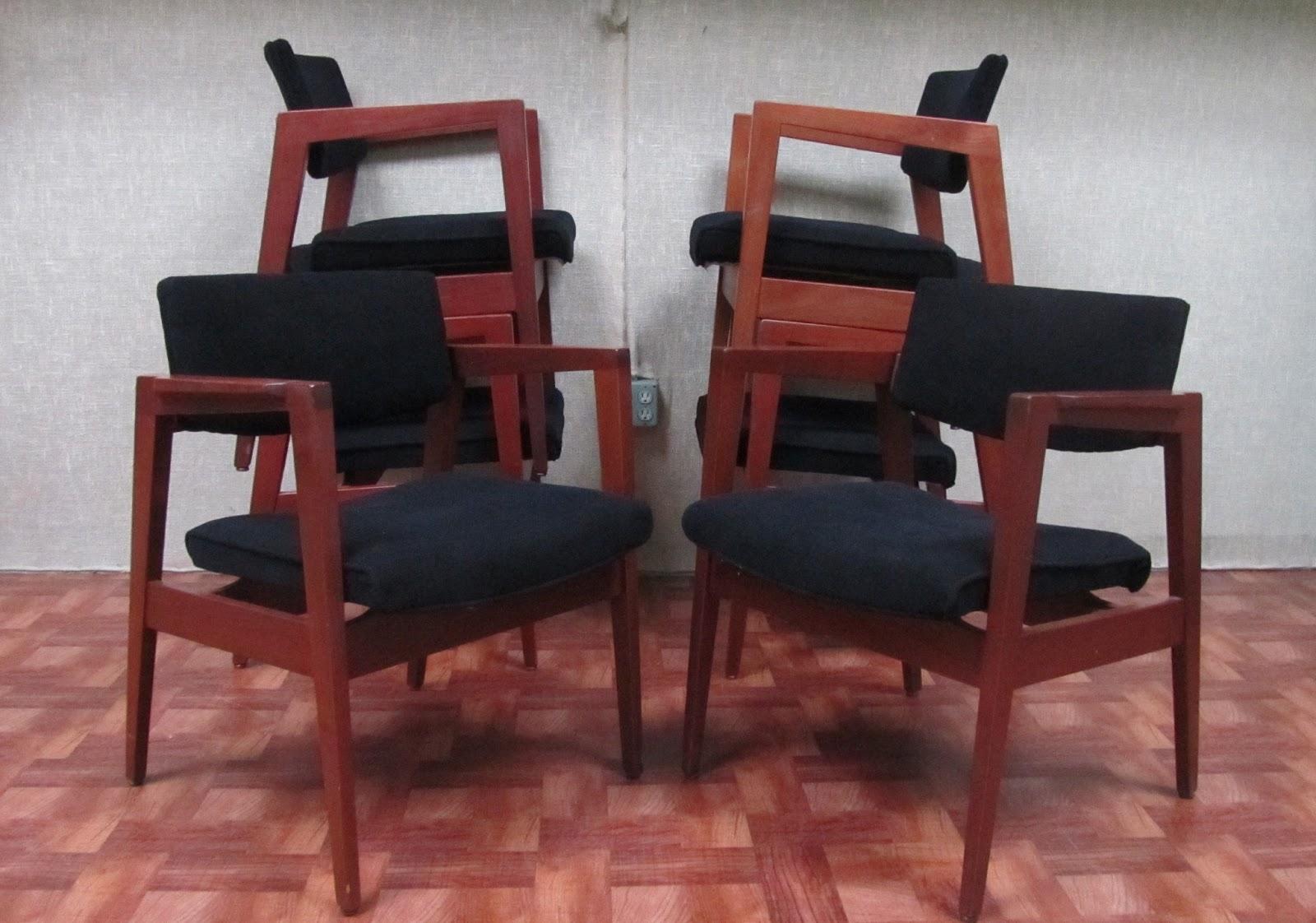 Remnant ReupholsteredGunlocke Armchairs