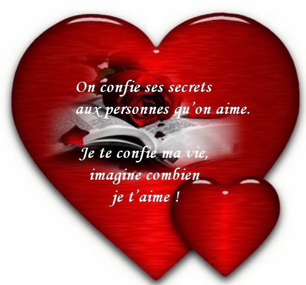 Message d 39 amour et d 39 amiti carte citation d 39 amour on confie ses secrets - Carte d amour ...