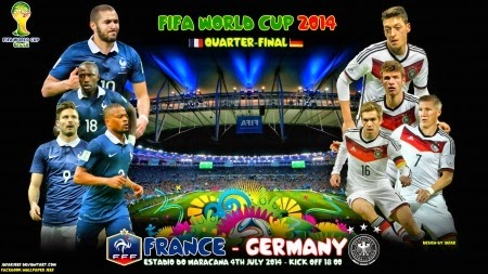 Perkiraan Hasil Akhir Pertandingan Babak Perempat Final Piala Dunia 04 Juli 2014 Prancis vs Jerman