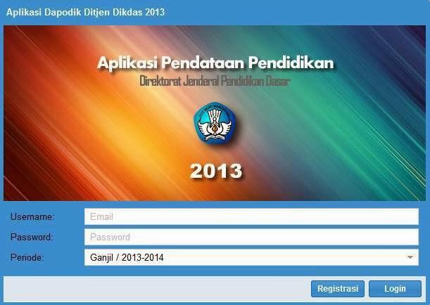 Aplikasi Dapodik 2013 Terbaru Telah Dirilis