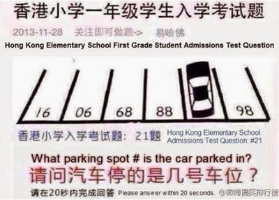 Pensamiento lateral, De Bono, Creatividad, Think out of the box, Hong Kong Elementary School Question Test