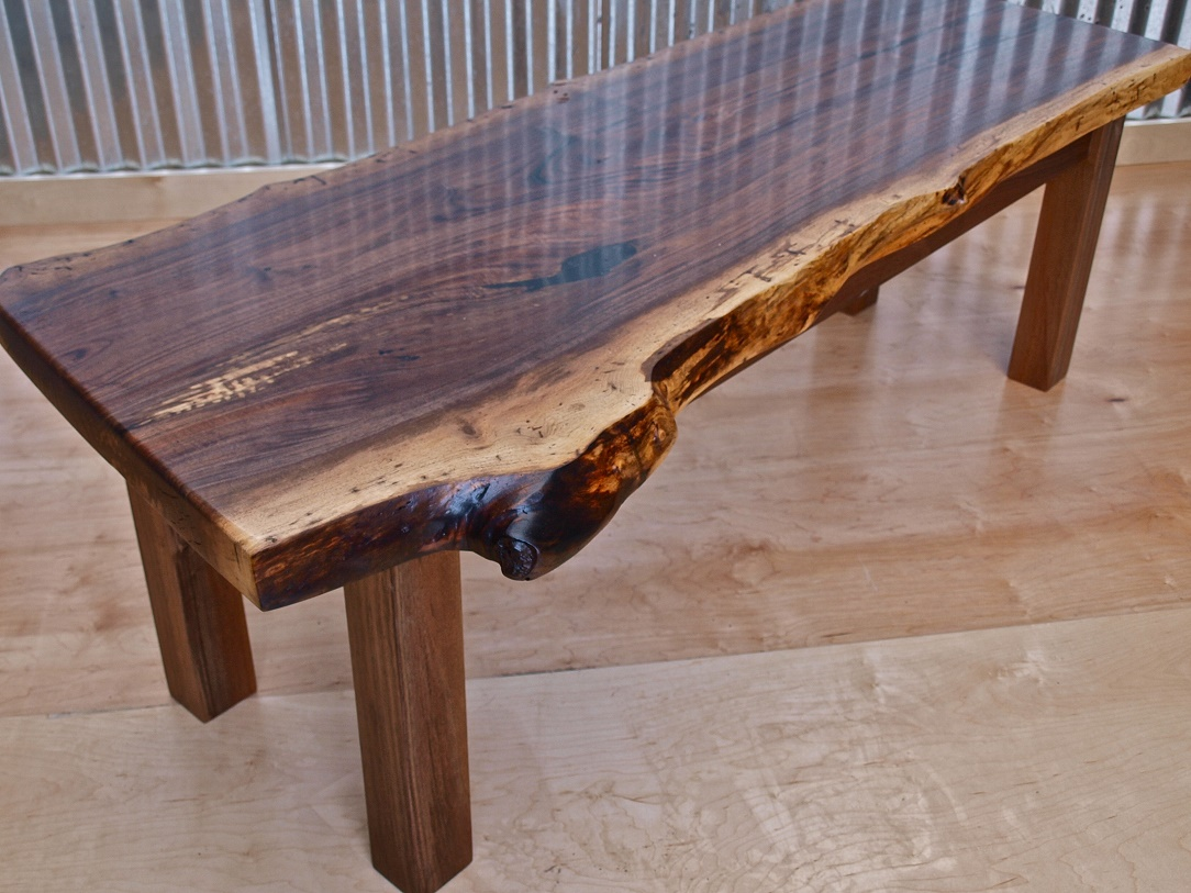 Sean Linnane Live Edge Oak Walnut Bars Coffee Tables