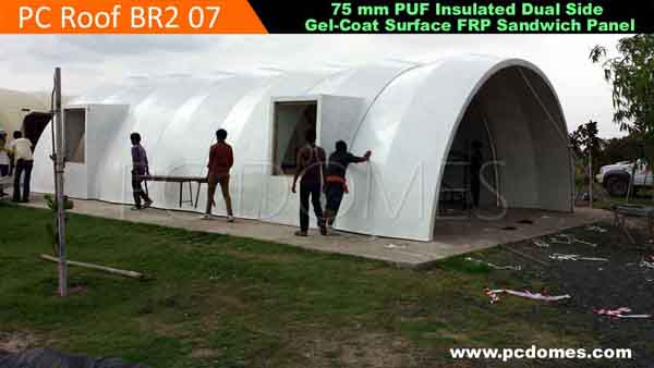 Frp domes military shelter for Prefabricated underground homes