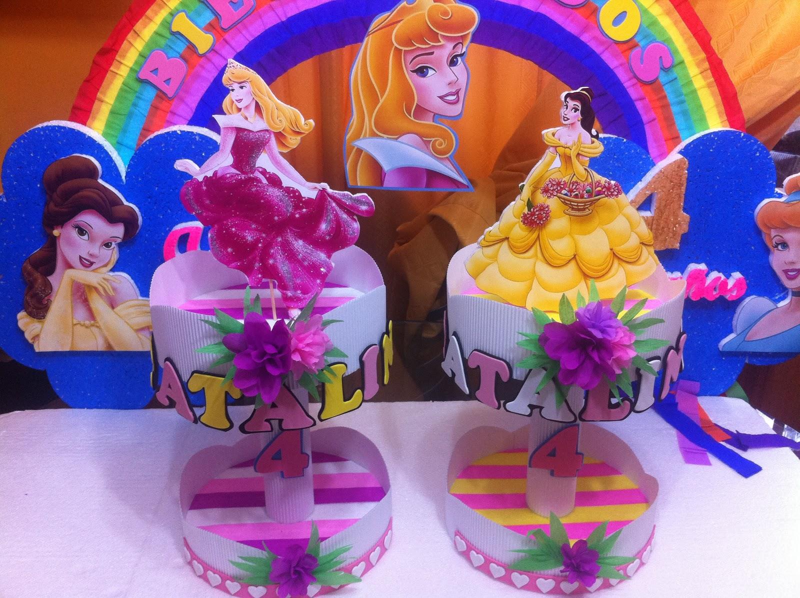 Decoraciones infantiles princesa bella y aurora - Decoracion cumpleanos princesas ...