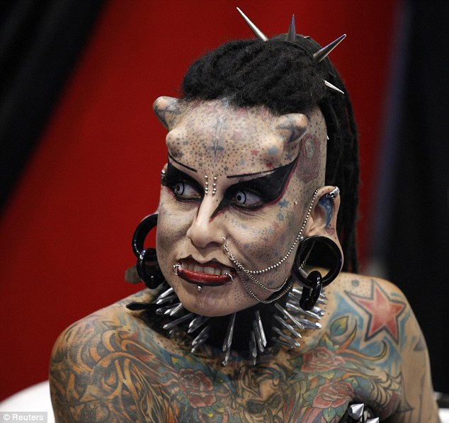 Maria Jose Cristerna, Mexico 'Vampire Woman,' Calls Horns And Piercings 'Sign Of Strength'