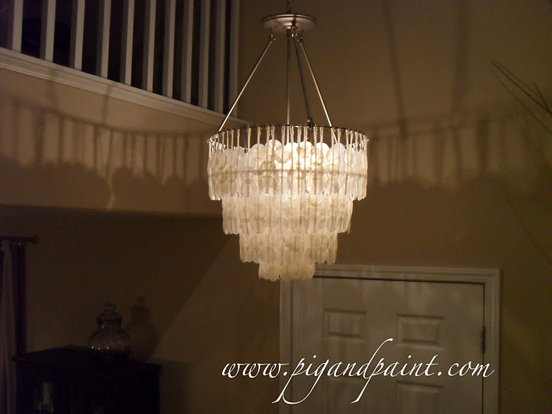 How To Make A DIY Capiz Shell Chandelier