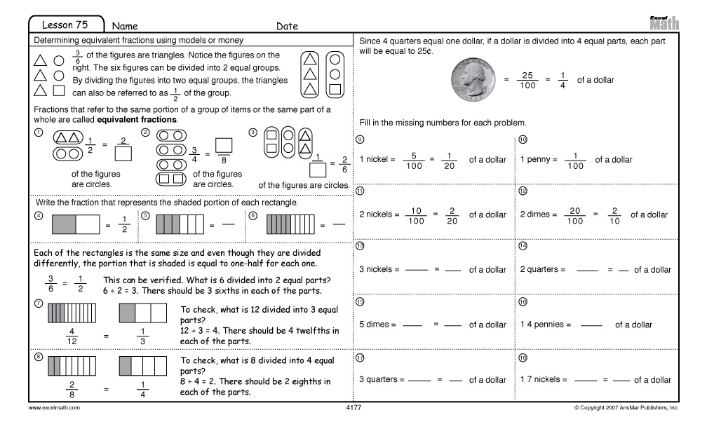 Printables Excel Math Worksheets excel math 4812 41512 fourth grade lesson 75 student worksheet click here for a free you can print out and use today