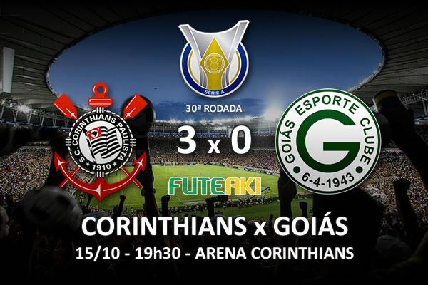 Veja o resumo da partida com os gols e os melhores momentos de Corinthians 3x0 Goiás pela 30ª rodada do Brasileirão 2015.