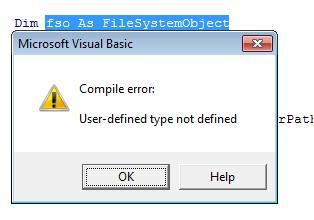 error codes FileSystemObject  ExpertsExchange