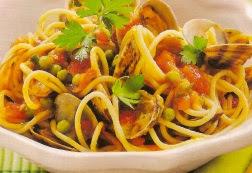 Receta Espaguetis especial con Almejas