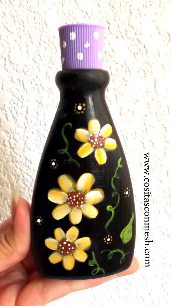 Como reciclar frascos de vidrio o pl stico cositasconmesh - Como pintar botellas de plastico ...