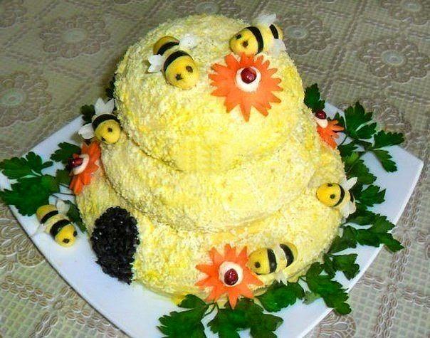 Салат пчелка рецепты с фото