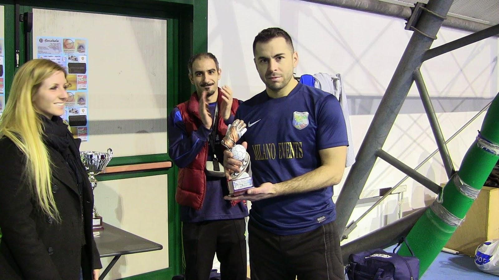 Carlos Celes premiato miglior portiere del torneo