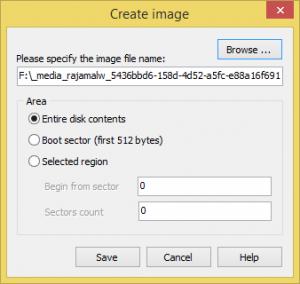 crear imagen de respaldo con  Linux Reader