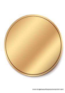 Medallas para imprimir y personalizar