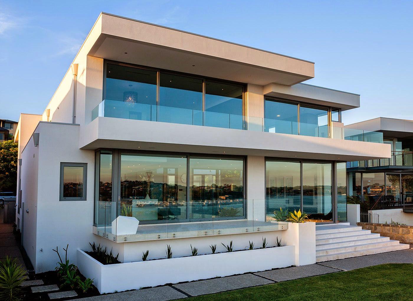 Hogares frescos relajada y acogedora moderna casa de la for Casa modern