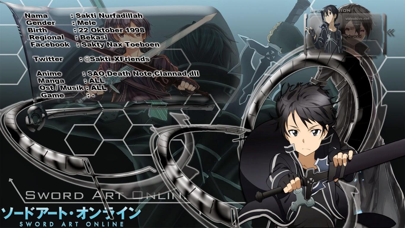 ID CARD Kirito Anime Swort Art Online