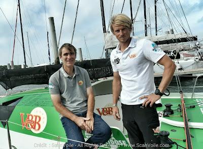 Maxime Sorel et Sam Manuard sur V&B à Lorient.