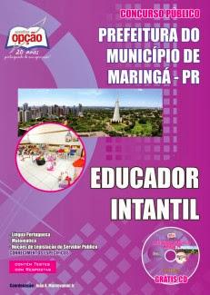 Apostila Prefeitura de Maringá PR Edital Concurso 2013