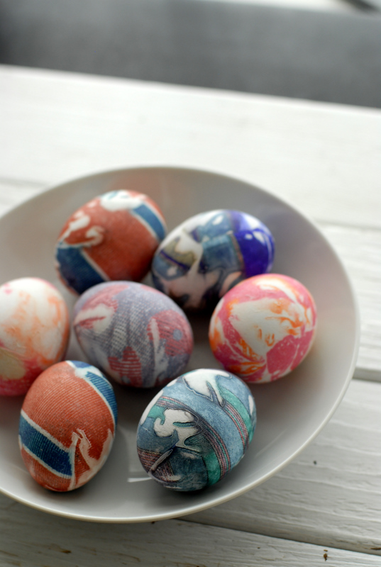 Silk dyed easter eggs and bunny shaped hard boiled eggs ccuart Gallery