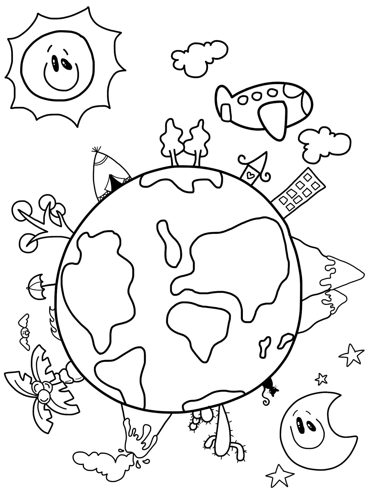 Line Art Earth : Cre tive hands happy earth day