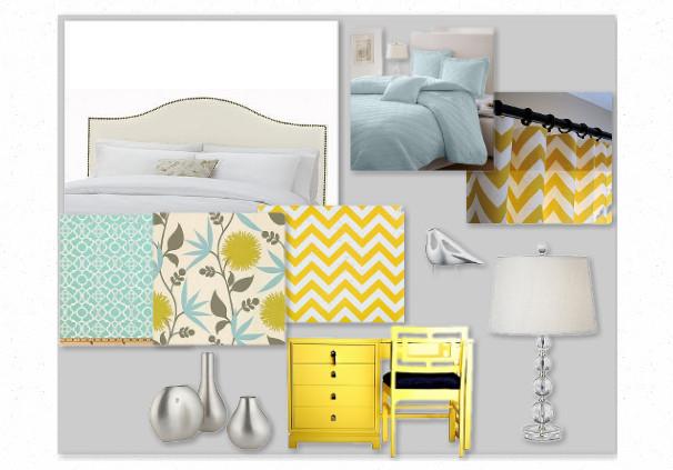 Tiffany Blue And Gray Bedroom