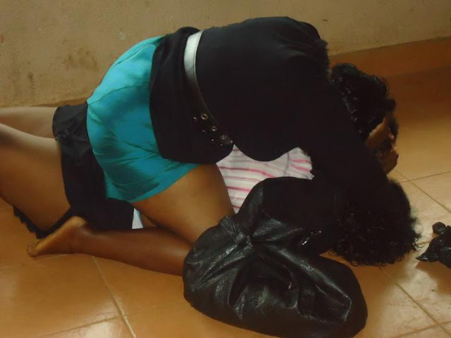 SHAMEFUL! Female Bankers Fight Dirty in Banking Hall Over Rich Businessman (See Photos)