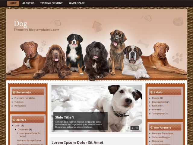 Dog Blogger Template