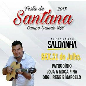 Alessandro Saldanha na Abertura da Festa de Sant'Ana 2017 em Campo Grande