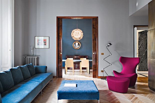 Appartamento anni 39 40 milano zona san vittore italy karmarchitettura - Architetto interni milano ...