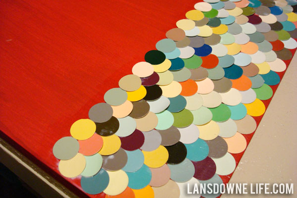 How to make repurposed paint chip wall art