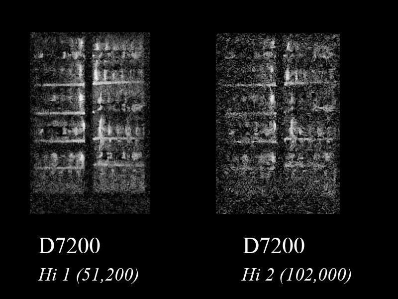 Nikon d7200 hi 1 0 and hi 2 0