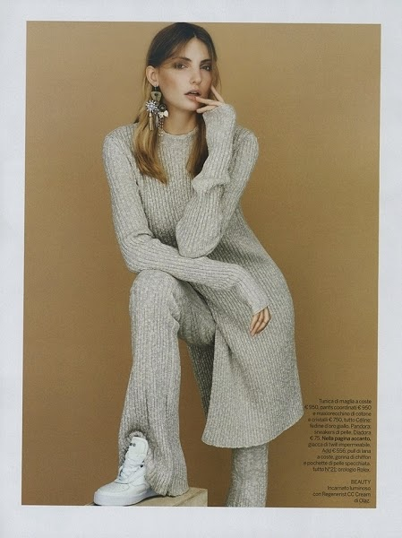 Céline AW 2014 Ivory Full-on Knitwear with Knits Trousers