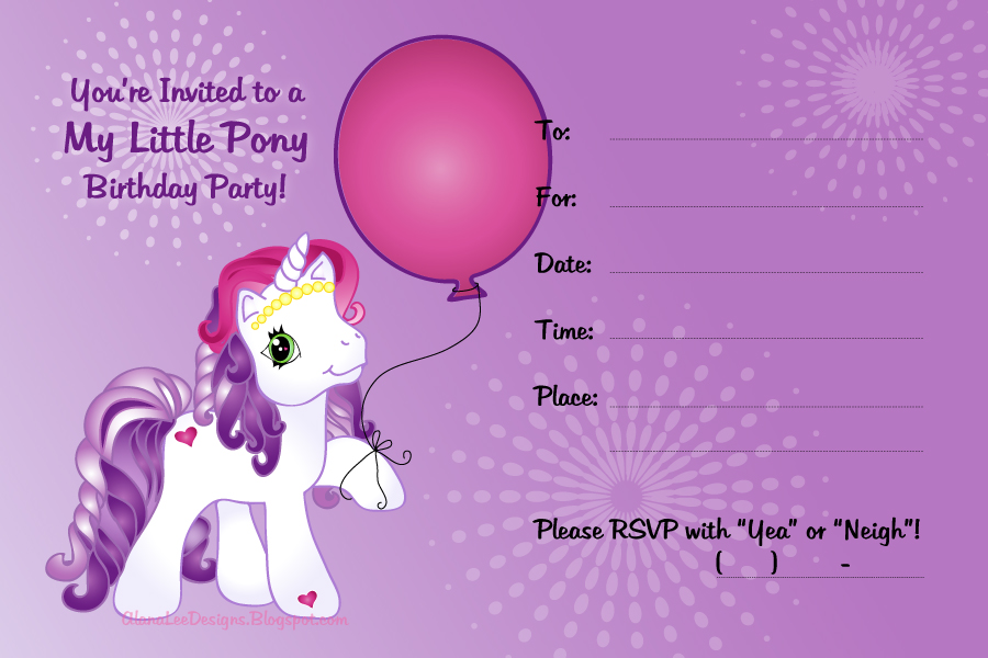 Free My Little Pony Invitation Featuring Sweetie Belle Birthday Invitations Template
