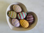 Virkade ägg.
