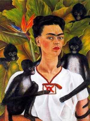 Frida Kahlo Autorretrato con monos