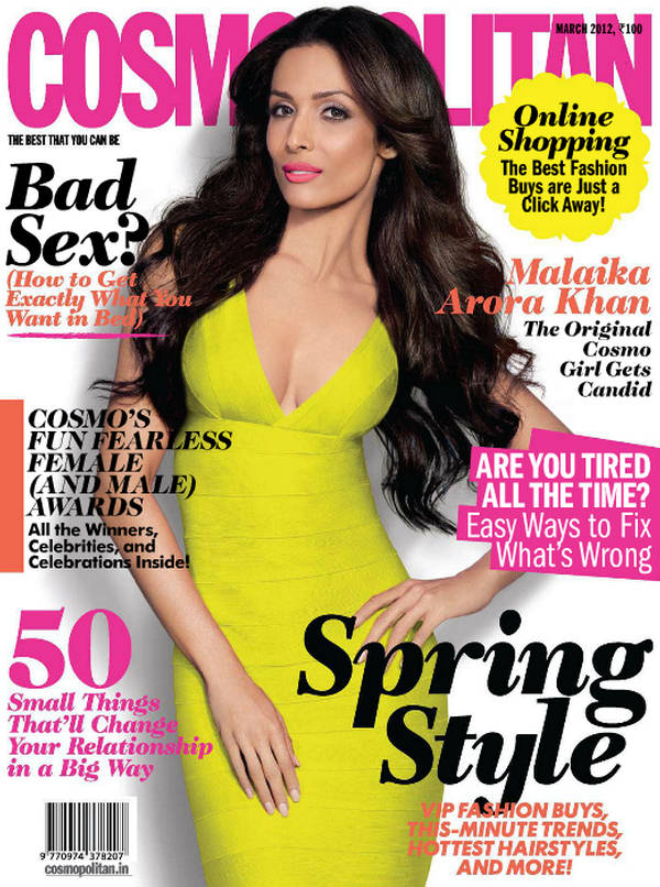Hot Malaika Arora Khan Cosmopolitan Magazine April 2012