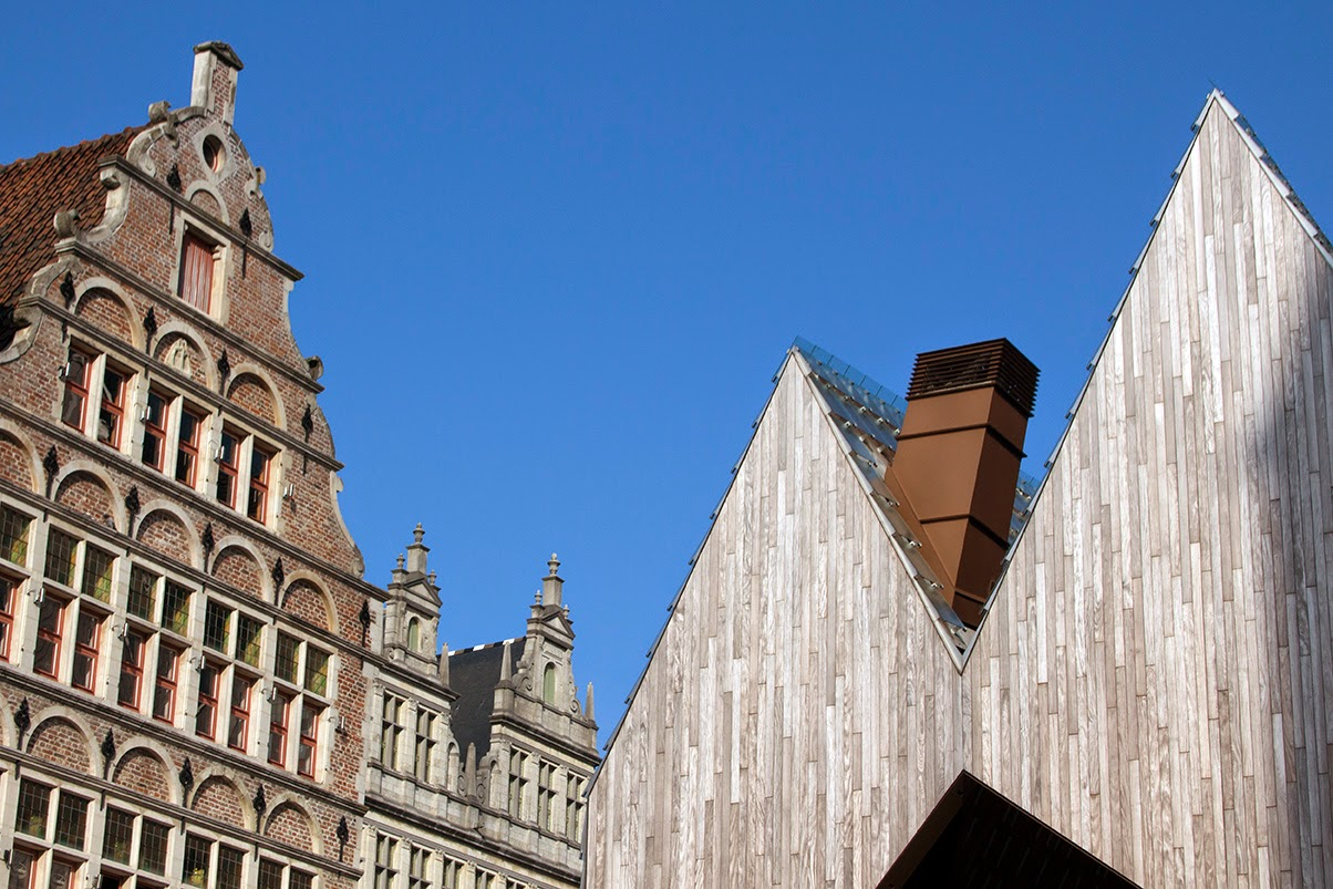 old and new gables