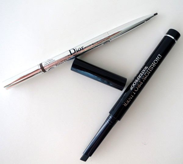 New from Dior for summer 2015: Diorshow Brow Styler pencil in 'Universal Dark Brown' (great for Asian brows) and super-long-lasting Diorshow Waterproof Pro Liner.