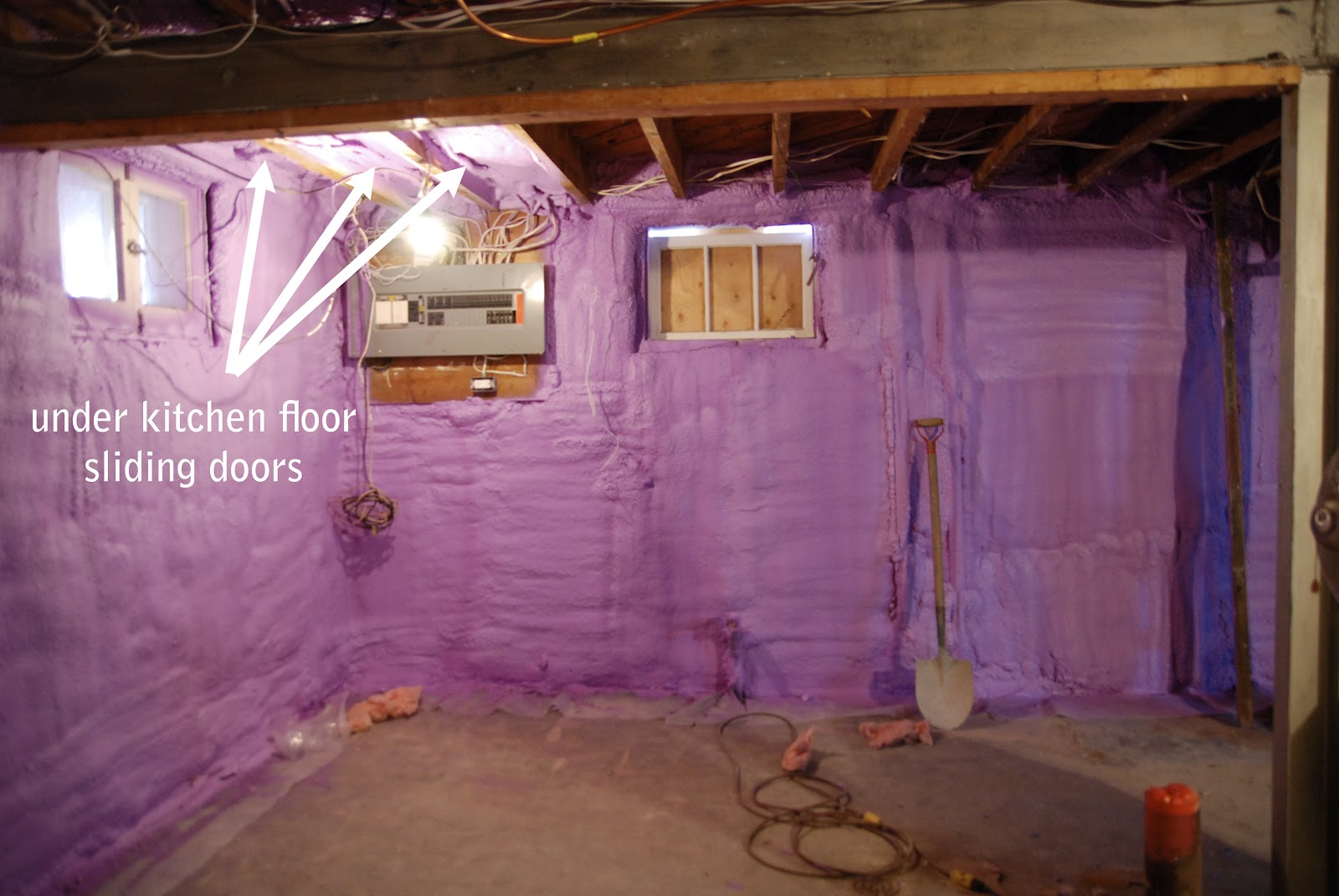 The Basement Spray Foam Fun Rambling Renovators