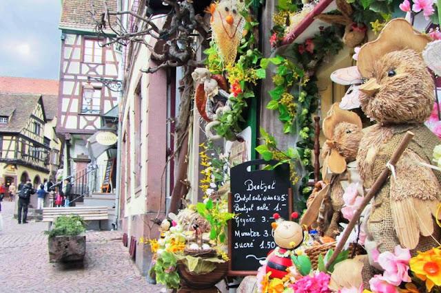 Pueblo tradicional región de Alsacia