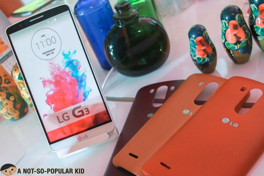 The LG G3 with the Slim Hard Case