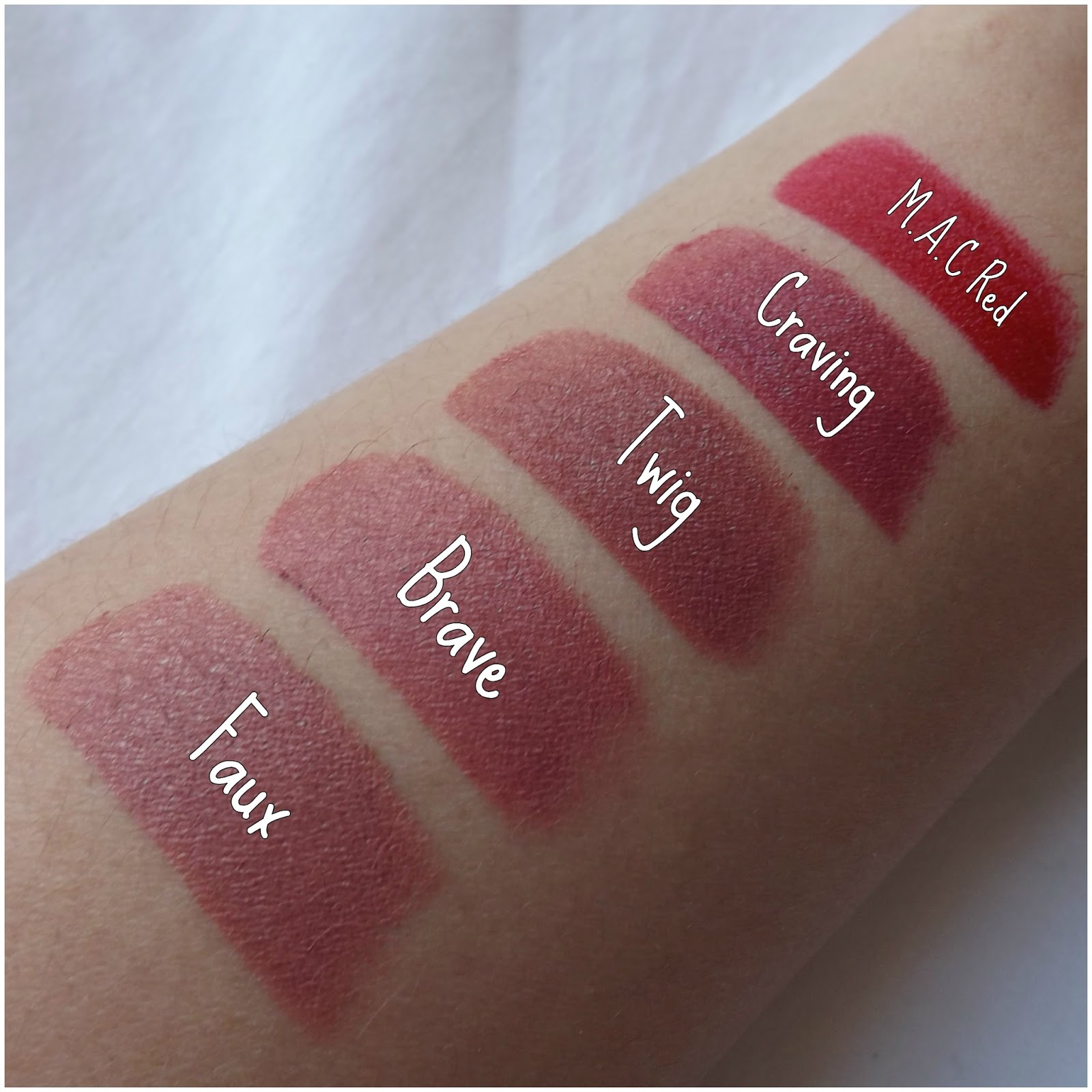 Top My MAC Lipstick Collection and Swatches   taken by surprise HE05