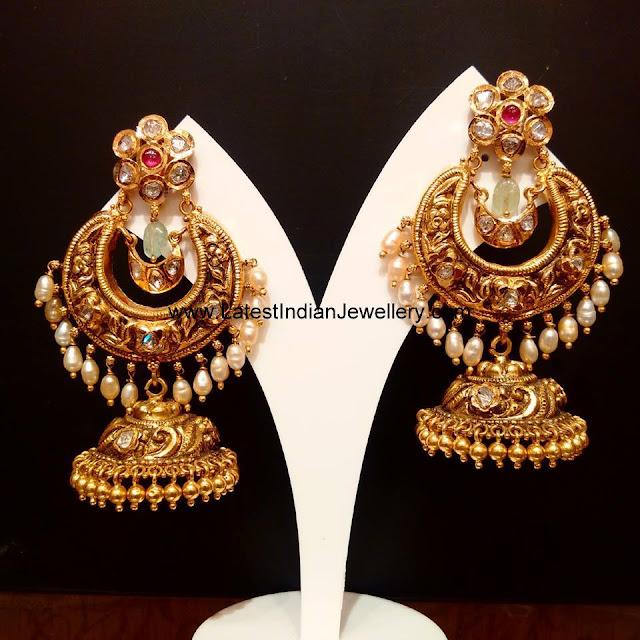 Chandbalis with Jhumki Drop